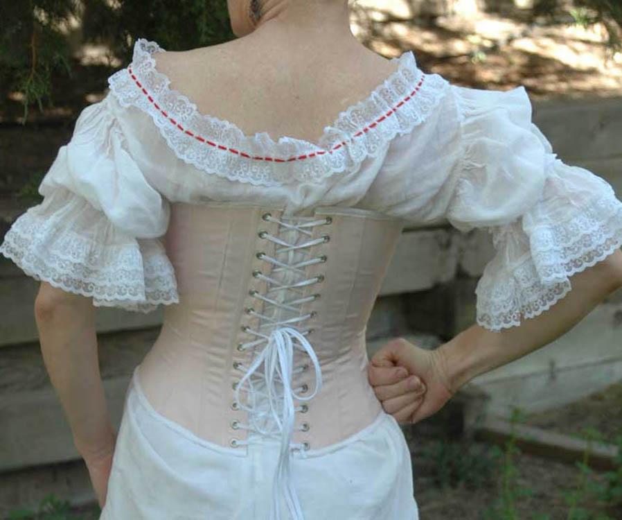 1860 corset back