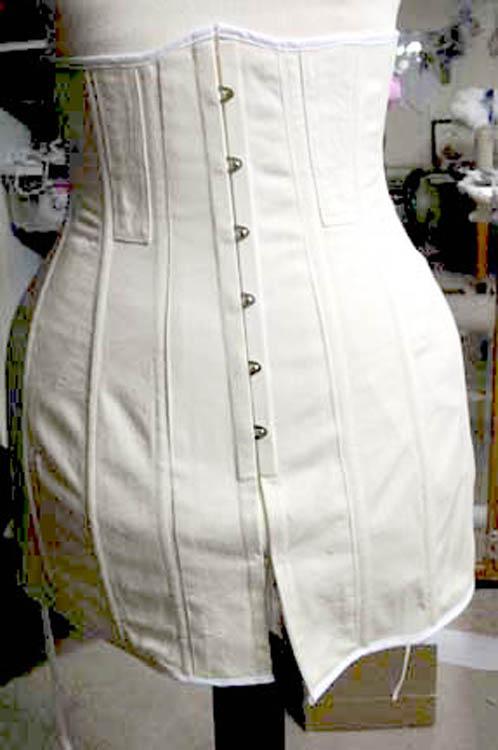 Titanic era Reproduction corset front view