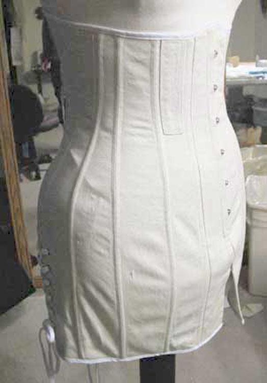 Titanic era corset side view