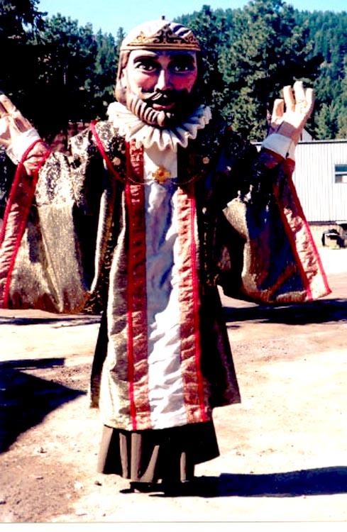 Puppet costume for Colorado Ren Festival