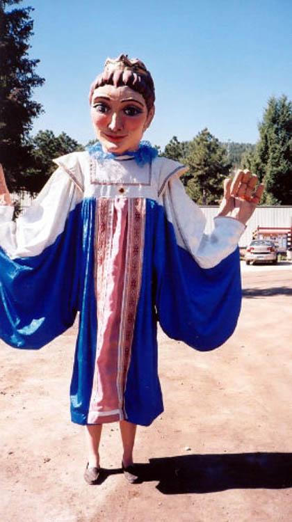 Queen puppet costume for CO Ren Festival