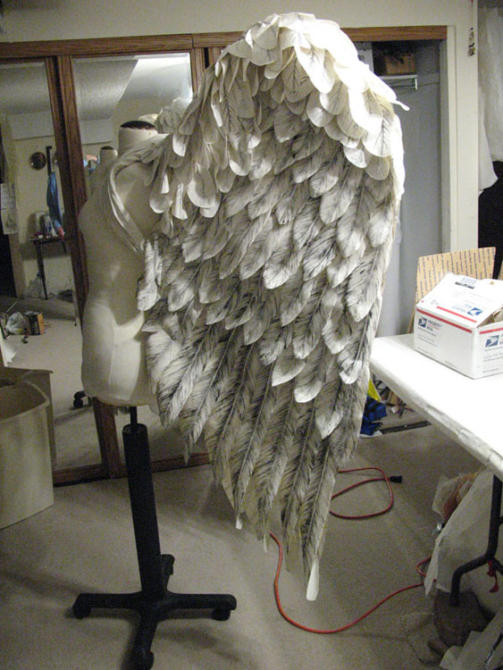 Side view of finished wings