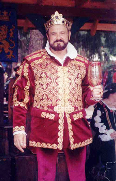 George Herman as King of the Colorado Renaissance Festival