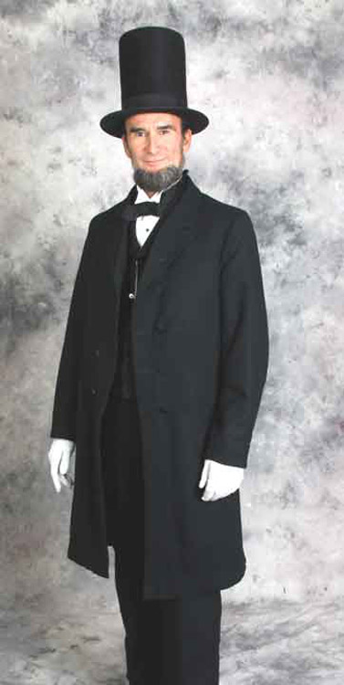 Reproduction Lincoln suit based upon images from the Ford's Theater Museum