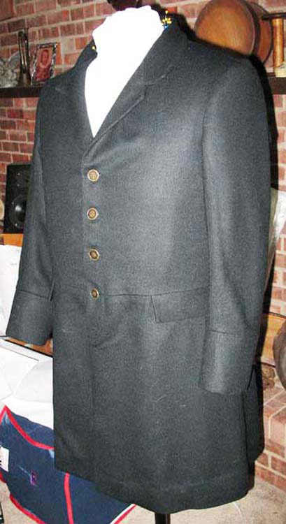 Black wool frock coat 1870-1900