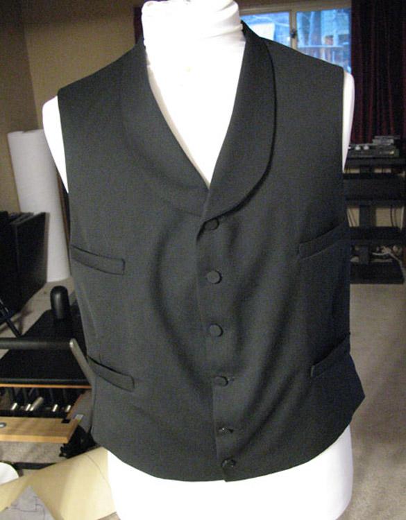 Black 1860's waistcoat - day