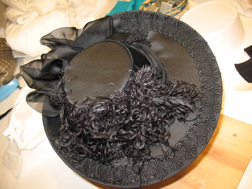 Black hat made for a customer