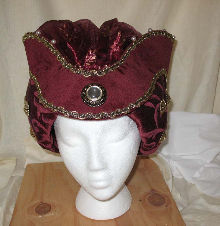 Front view Medieval hat