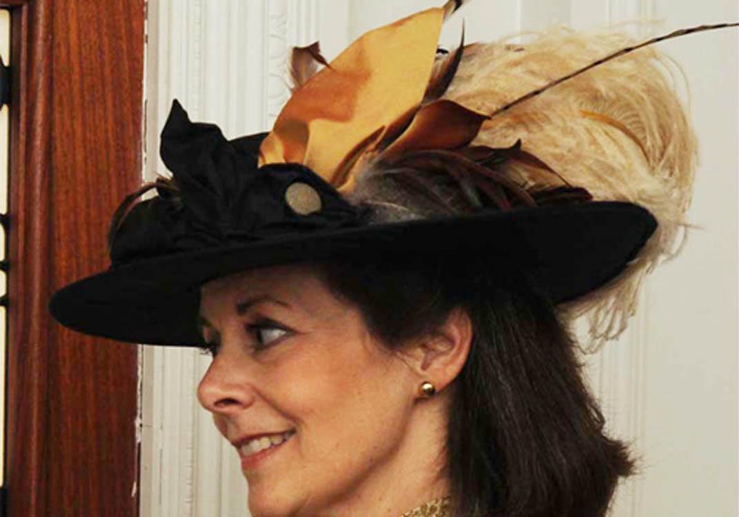 Large Titanic era hat made for actress Mary Jane Bradford