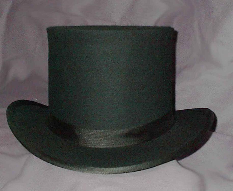Men's 19th Century top hat