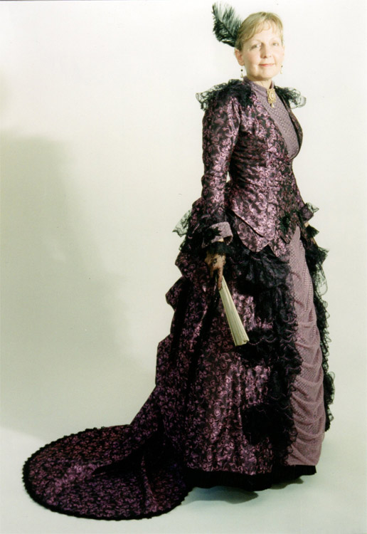 Reception gown 1885