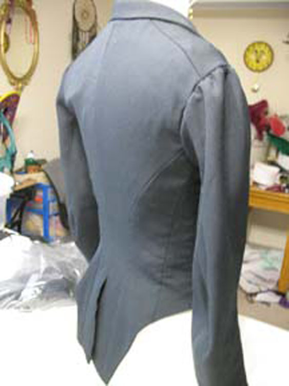 Riding jacket back view